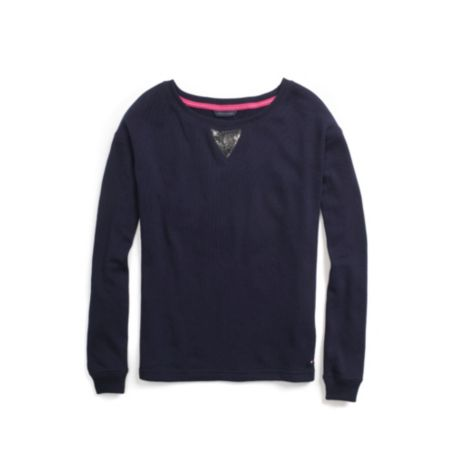 Image for SEQUIN DETAIL SWEATSHIRT from Tommy Hilfiger USA