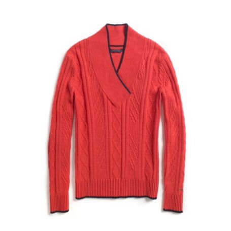 Image for TIPPED CABLE SWEATER from Tommy Hilfiger USA