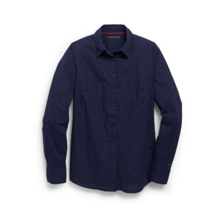 Image for PRINTED DOT POPLIN SHIRT from Tommy Hilfiger USA