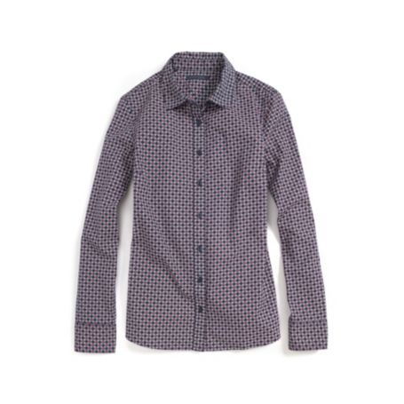 Image for STRETCH SATEEN PRINTED SHIRT from Tommy Hilfiger USA