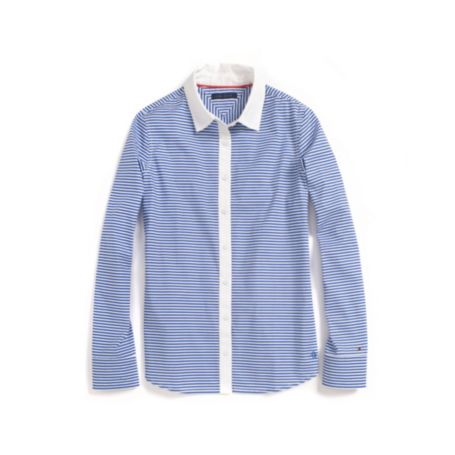 Image for HORIZONTAL STRIPE STRETCH SHIRT from Tommy Hilfiger USA