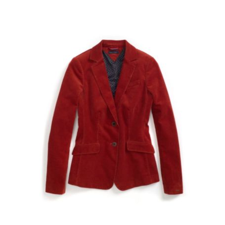 Image for CORDUROY SOLID BLAZER from Tommy Hilfiger USA