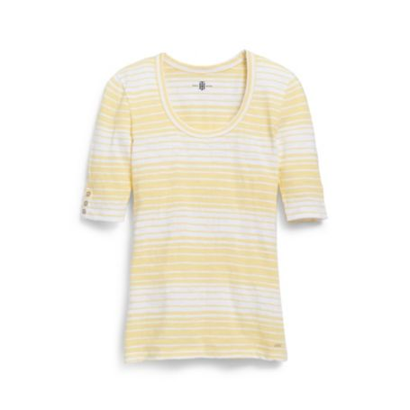 Image for 3/4 SLEEVE STRIPE TEE from Tommy Hilfiger USA