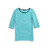 ROLL-TAB SLEEVE STRIPE TOP $29.99