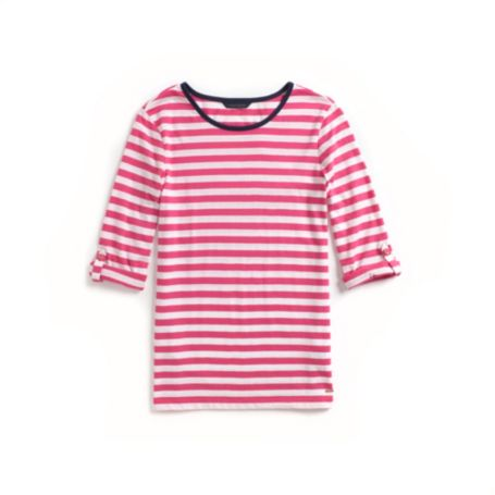Image for ROLL-TAB SLEEVE STRIPE TOP from Tommy Hilfiger USA