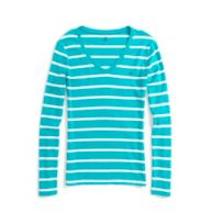 THIN STRIPE LONG SLEEVE TEE $24.50