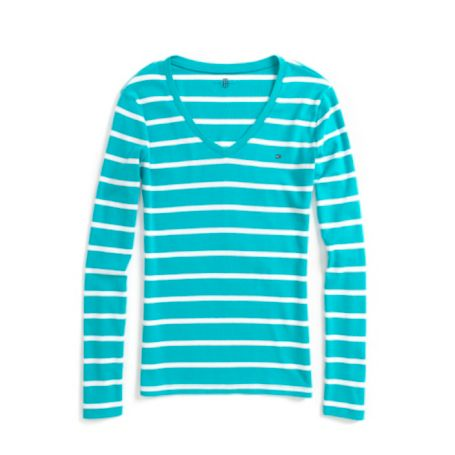 Image for THIN STRIPE LONG SLEEVE TEE from Tommy Hilfiger USA