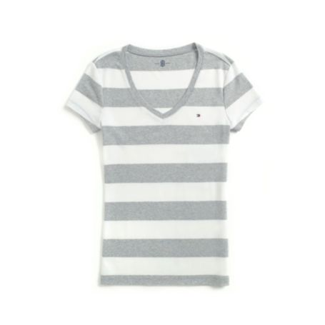 Image for RUGBY STRIPE V-NECK TEE from Tommy Hilfiger USA