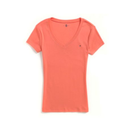 Image for SHORT SLEEVE V-NECK NECK TEE from Tommy Hilfiger USA