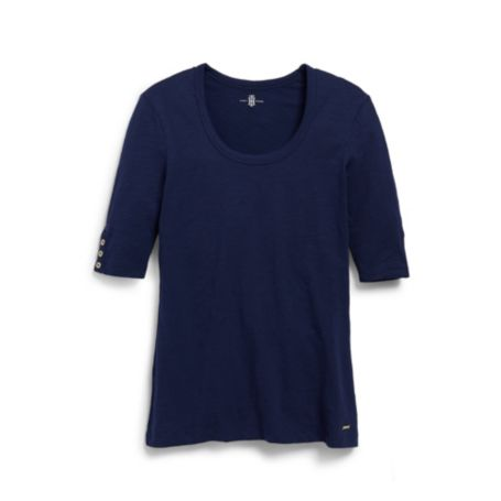 Image for 3/4 SLEEVE SLUB TEE from Tommy Hilfiger USA