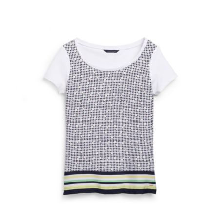Image for PRINTED KNIT TO WOVEN TEE from Tommy Hilfiger USA