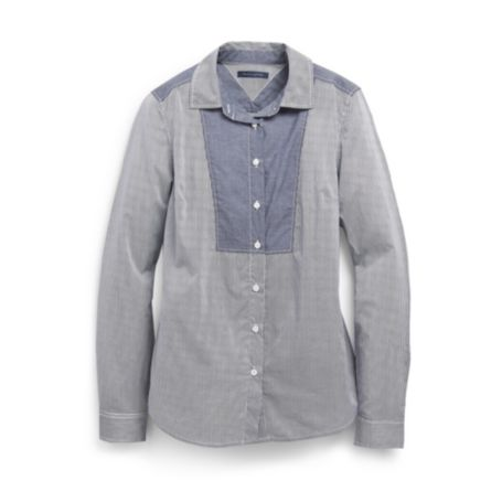 Image for CONTRAST BIB SHIRT from Tommy Hilfiger USA
