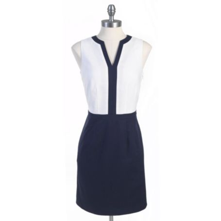 Image for SPLIT NECK DRESS from Tommy Hilfiger USA