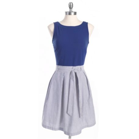 Image for SEERSUCKER KNIT TO WOVEN DRESS from Tommy Hilfiger USA