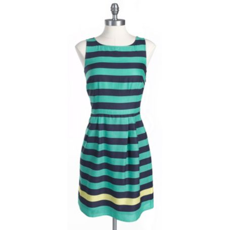 Image for SLEEVELESS STRIPE DRESS from Tommy Hilfiger USA