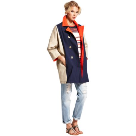 Image for COLORBLOCKED BOXY PEACOAT from Tommy Hilfiger USA