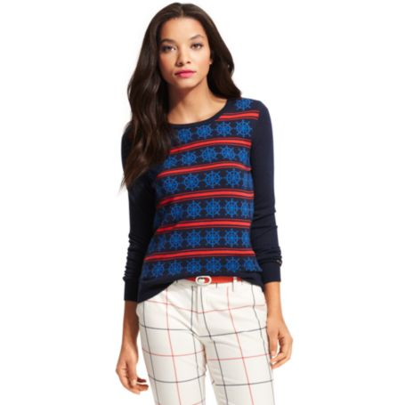Image for WHEEL STRIPE SWEATER from Tommy Hilfiger USA