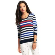 STRIPE CREWNECK SWEATER $75.00