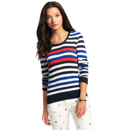Image for STRIPE CREWNECK SWEATER from Tommy Hilfiger USA