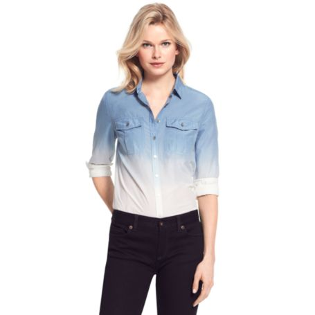 Image for DIP DYE BLOUSE from Tommy Hilfiger USA