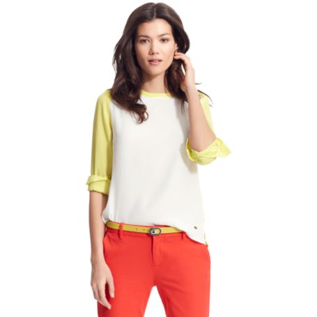 Image for COLORBLOCK BLOUSE from Tommy Hilfiger USA