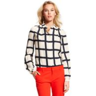 WINDOWPANE CHECK BLOUSE $119.00