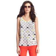 TRIANGLE PRINTED TANK $119.00