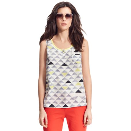 Image for SILK TRIANGLE TANK from Tommy Hilfiger USA