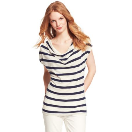 Image for STRIPE COWL NECK KNIT TOP from Tommy Hilfiger USA