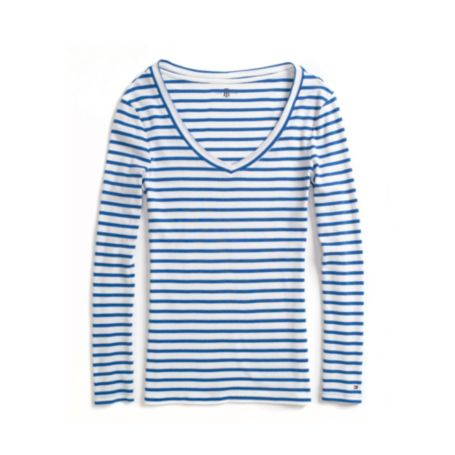 Image for LONG SLEEVE STRIPE KNIT TOP from Tommy Hilfiger USA