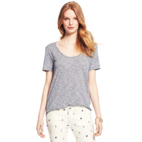 Image for HEATHERED SHORT SLEEVE TEE from Tommy Hilfiger USA