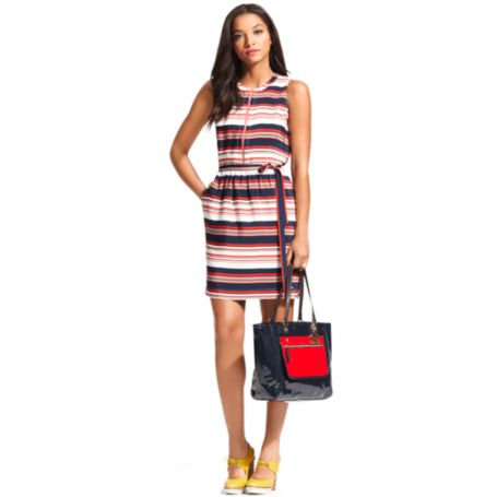 Image for HORIZONTAL STRIPE  ZIPPER DRESS from Tommy Hilfiger USA
