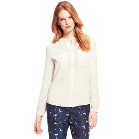 Image for LONG SLEEVE SOLID BLOUSE from Tommy Hilfiger USA