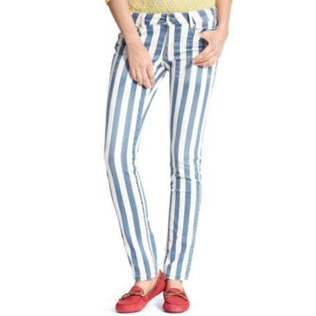 Image for STRIPE PRINTED SKINNY JEAN from Tommy Hilfiger USA