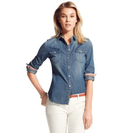 Image for DENIM BUTTON DOWN SHIRT from Tommy Hilfiger USA