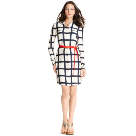 Image for WINDOWPANE DRESS from Tommy Hilfiger USA