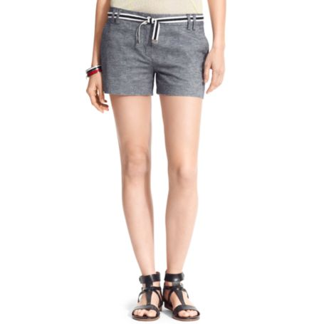 Image for CHAMBRAY SHORT from Tommy Hilfiger USA