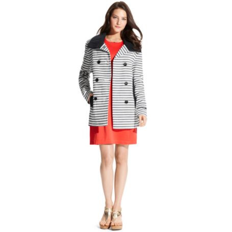 Image for STRIPE PEACOAT from Tommy Hilfiger USA