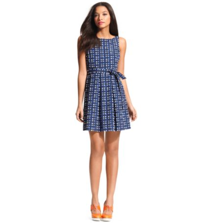 Image for PLEATED PATTERN DRESS from Tommy Hilfiger USA