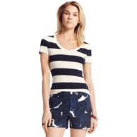 PERFECT SHORT SLEEVE RUGBY STRIPE TEE $29.00