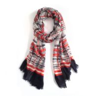GRAPHIC PLAID SCARF $29.99