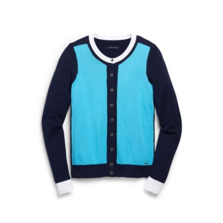 Image for COLORBLOCK CREW CARDI from Tommy Hilfiger USA