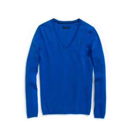 Image for SOLID V-NECK SWEATER from Tommy Hilfiger USA