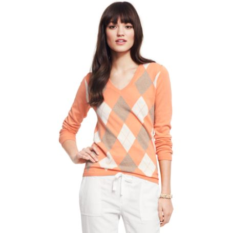 Image for V-NECK ARGYLE SWEATER from Tommy Hilfiger USA
