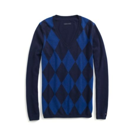 Image for TONAL ARGYLE V-NECK SWEATER from Tommy Hilfiger USA
