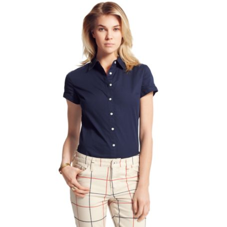 Image for SHORT SLEEVE SOLID SHIRT from Tommy Hilfiger USA