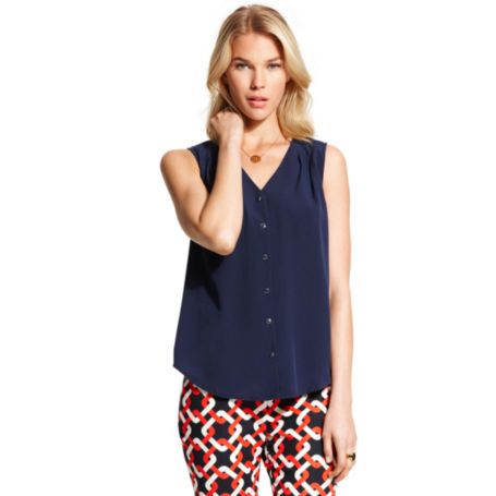 Image for SOLID TIE NECK BLOUSE from Tommy Hilfiger USA