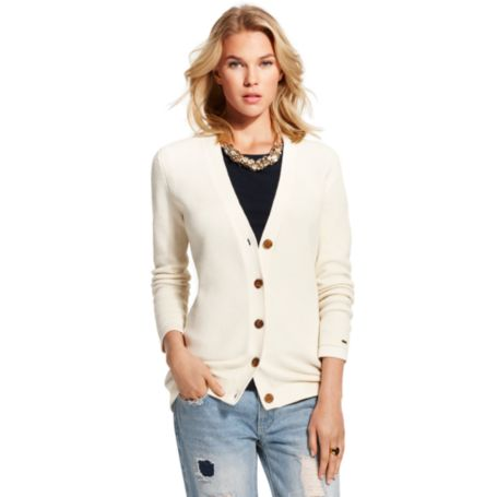 Image for TUCKED CARDIGAN from Tommy Hilfiger USA