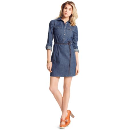 Image for DENIM PULLOVER SHIRT DRESS from Tommy Hilfiger USA