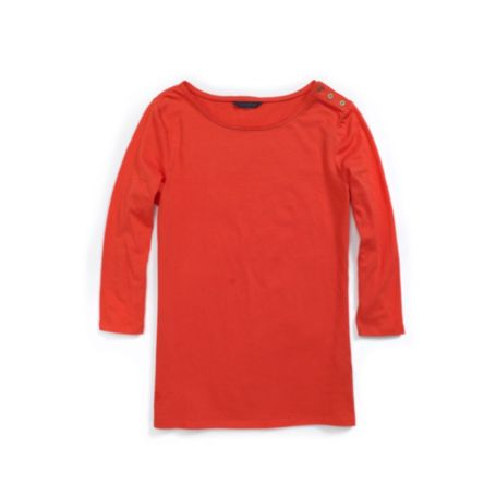 Image for 3/4 SLEEVE BUTTON KNIT TOP from Tommy Hilfiger USA